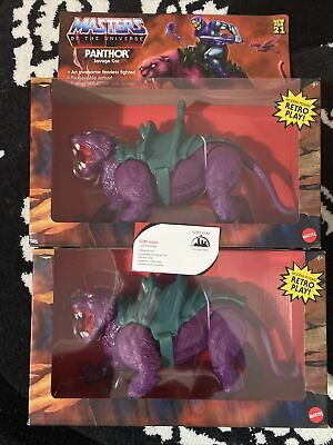 $85 • Buy MASTERS OF THE UNIVERSE ORIGINS PANTHOR SAVAGE CAT IN HAND! Lot Of 2