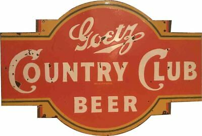 $ CDN130.71 • Buy Porcelain Country Club Beer Enamel Sign Size 36  X 24.5  Inches 2 Sided
