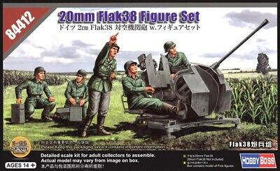 Hobbyboss 84412 1:35th Scale German 20mm Flak38 Figure Set • 11.99£