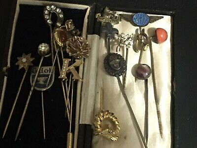 Antique And Vintage Pins To Include 3 Silver Pins • 55£