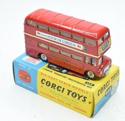 Corgi Toys 468 Routemaster Bus 'House Of Lords Gin' Virtually Mint/Boxed • 1,950£