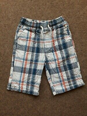 Boys Next Multi-coloured Checked Shorts Cotton Age 8 Years • 1.50£