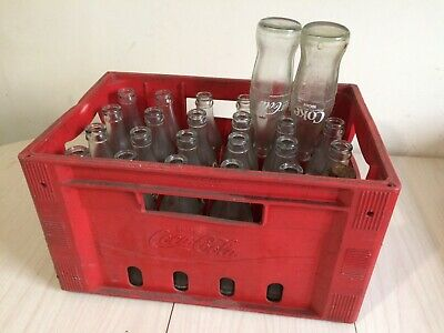 Coca Cola Crate And 26 Bottles • 35£