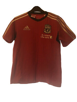 Boy's ADIDAS T Shirt With LIVERPOOL Football Club 13-14yrs Old • 12£