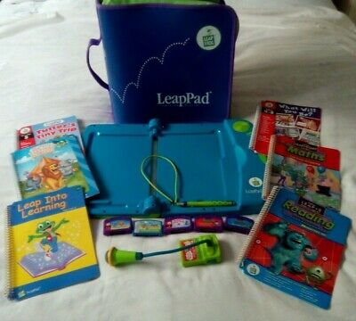 LeapPad Leap Frog Learning System With Microphone,Cartridges,Books & Carry Case • 9.50£