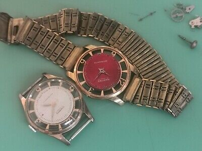 2 Very Rare See Through Vintage Gent's Watches Spares Or Repair • 12.50£