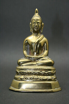 Early 20thC Vintage Or Antique Burmese Buddhist Deity, Meditation Buddha, Bronze • 0.99£