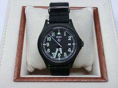 MWC G10 50m Military Watch PVD Date Window Battery Hatch Back  • 85£
