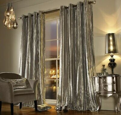 Kylie Minogue Iliana Praline 90 X 90inch Eyelet Ring Top Lined Curtains, Pair • 60£