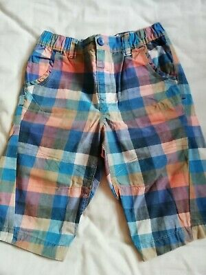 Boys Blue And Orange Checked Shorts Age 10 By Next • 2£