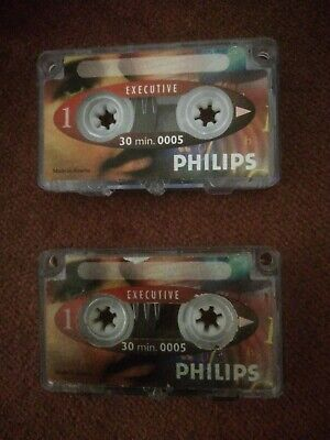 PHILIPS Dictation Machine Tapes 0005 Executive (x2) 30 Mins. • 4.99£