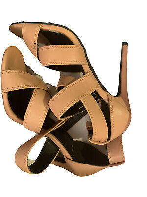 Missguided Shoes Peach High Heels Size 5 • 5£