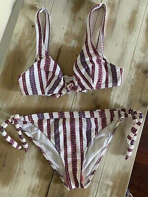 AU7.50 • Buy Tigerlily Bikini Top Size 10 - Stripped Pescodores & Bottoms 12 - NEW With Tags