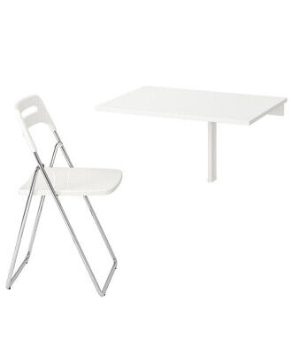 *BRAND-NEW* IKEA White Folding Table And X2 Chair Set - {Collection-Only} • 80£