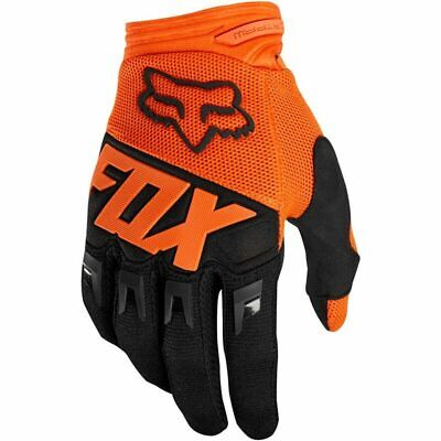AU25 • Buy NEW Fox MX Dirtpaw Orange Kids Off Road Motorcross Dirt Bike Riding Gloves
