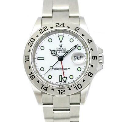 $ CDN9615.73 • Buy ROLEX Explorer II 16570 Date Serial A Automatic White Dial Mens Watch 90111264