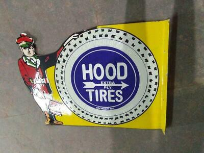 $ CDN13.97 • Buy Porcelain Hood Tire Enamel Sign Size 20  X 28  Inches Double Sided