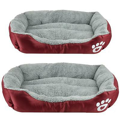 £12.99 • Buy Pet Basket Bed With Fleece Soft Comfy Fabric Washable Dog Cat Cosy Medium Large