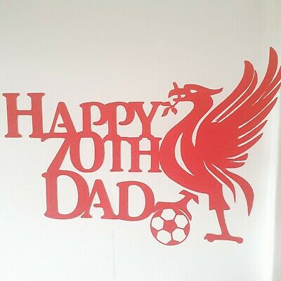 Personalised Liverpool Football Cake Topper • 5.50£