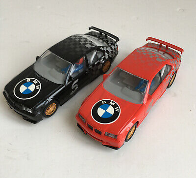 BR 2 Hornby Scalextric BMW Slot Cars Red Black • 19.25£
