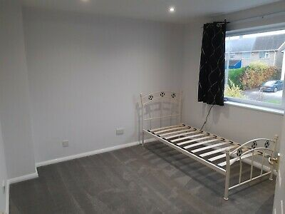 Single Football Metal Bed Frame Black And White • 5£