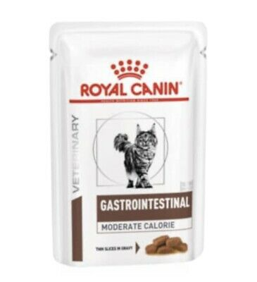 Royal Canin Veterinary Diet Cat - Gastro Intestinal Wet Cat Food 48x85g Pouches • 25£
