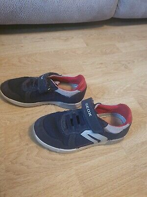 Boys Geox Blue Trainer Size 12/5 • 1.50£