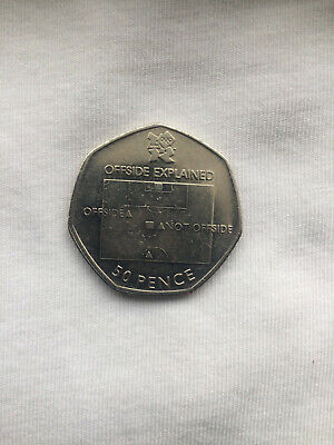 50p Coin. LONDON SUMMER OLYMPIC 2012 12/29 FOOTBALL.offside Explained  • 10£