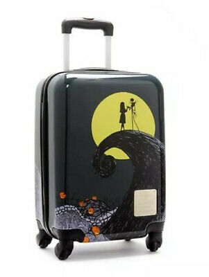 New Disney Store Nightmare Before Christmas Rolling Luggage Cabin Baggage Case • 45£