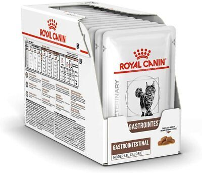 Royal Canin Veterinary Diet Cat - Gastro Intestinal Wet Cat Food 12x85g Pouches • 17.95£