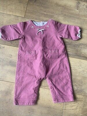 Jacadi Paris Romper Baby Girl Reversible All In One Suit French Vintage 3 Months • 3.99£