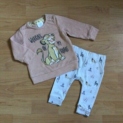 Baby Boy Clothes 0-3 Months Disney Lion King Outfit Simba Top Matching Bottoms • 1.85£