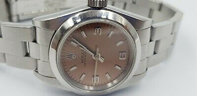 Ladies Rolex 67180 Steel Oyster Watch With Salmon Pink Dial • 1,995£