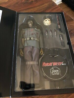 "Sideshow Collectibles Friday The 13th Part Vi 12""jason Voorhees Figure Boxed New • 99.99£"