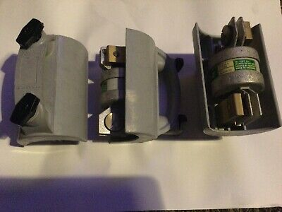 GEC-HENLEY Moulded Main Fuse Carriers Complete With 400 AMP J TYPE Fuses BS88 • 30£
