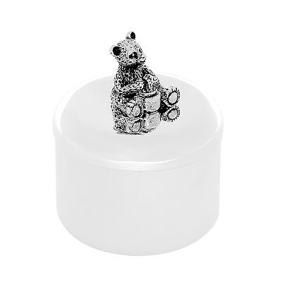 First Tooth Milk Tooth Box Silver Storage Jewellery Box Bear • 41.55£