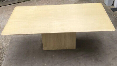 AU350 • Buy 8 Seater Solid Travertine Stone Dining Table