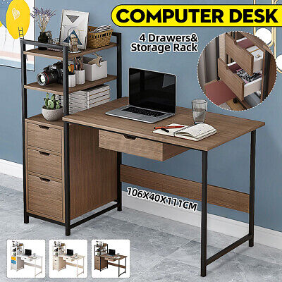 AU102.90 • Buy AU Office Computer Desk Bookshelf Laptop Table Home Study WorkStation Organizer