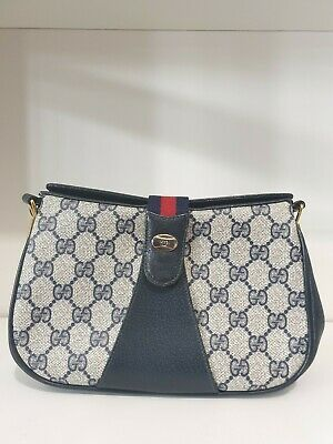 AU600 • Buy Gucci Authentic Vintage Gg Coated Canvas Crossbody / Shoulder Bag