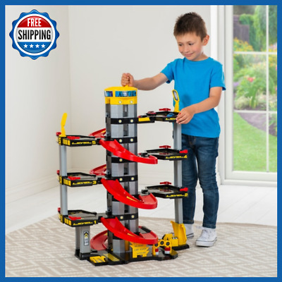 Kids Large Toy Car 7 Storey Parking Garage W/ Elevator Children Fun Playset New • 49.45£