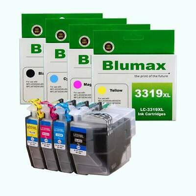 AU68.91 • Buy 4 Pack Blumax Alternative Ink Cartridges For Brother LC-3319XL