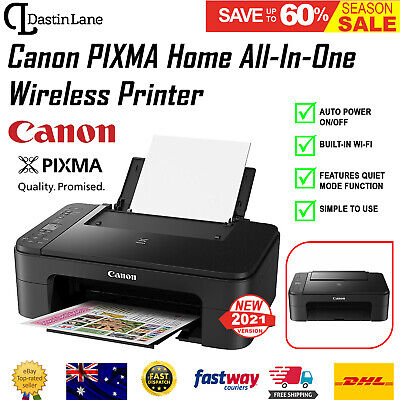 AU82.96 • Buy Canon Printer Wireless Pixma Home All-in-One WiFi Scanner Copy Print WITH INK