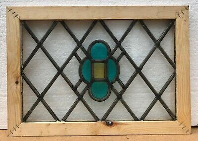 Vintage Leaded Stained Glass Window Panels Tudor Style • 35£