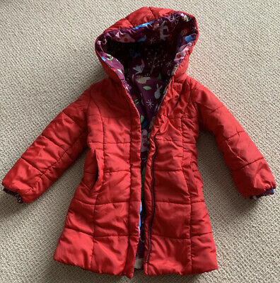 Girls Hatley Coat - Reversible Winter Padded Raincoat. Age 3 Ex Condition 3-4 Yr • 0.99£