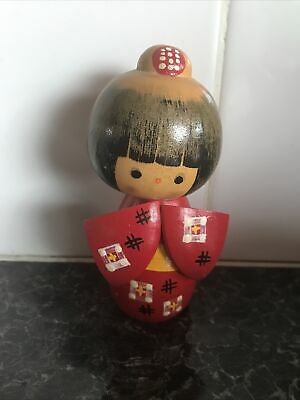 Japanese Kokeshi Doll Red Mint Condition • 15£