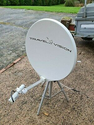 Travel Vision R6 55cm Fully Automatic Satellite Dish For Caravan/motorhome • 350£