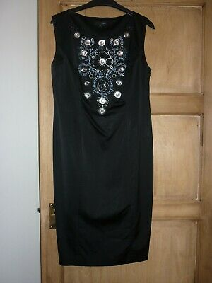 Ladies Next Black Embelished Dress Size 14 • 4£