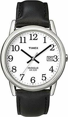 Timex Men's Easy Reader 35 Mm Leather Strap Watch T2H281 • 57.99£