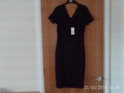 Ladies Purple Lace Dress  Size  8  New  With Tags • 11.50£