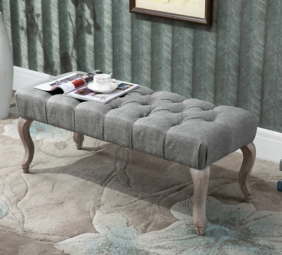 £99.90 • Buy Vintage Window Seat French Style Ottoman Bed Shabby Chic Footstool Bedroom Bench